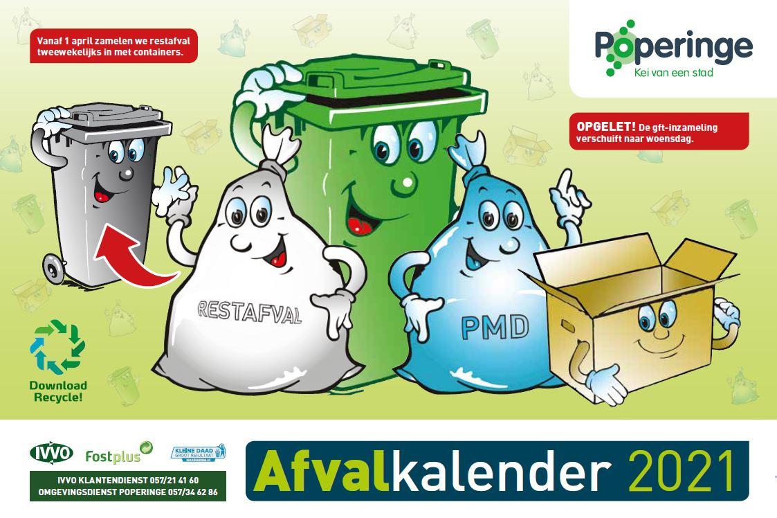 Afvalkalender Poperinge 2021